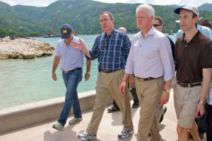 President Clinton with myself and Richard Fain