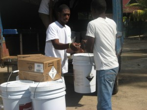 Haiti Relief Effort - Off Loading Supplies in Labadee from Independence of the Seas