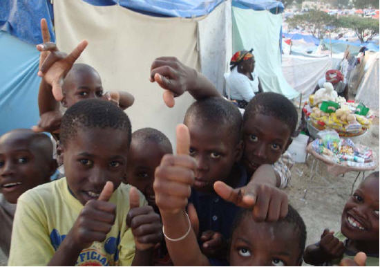 Kids in Haiti camps