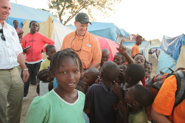 Kids in the camps in Haiti