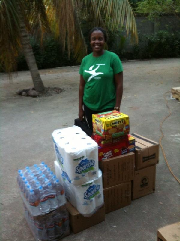 Supplies being distributed to Royal Caribbean employees and their families
