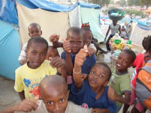 Children Living In A Camp In Haiti