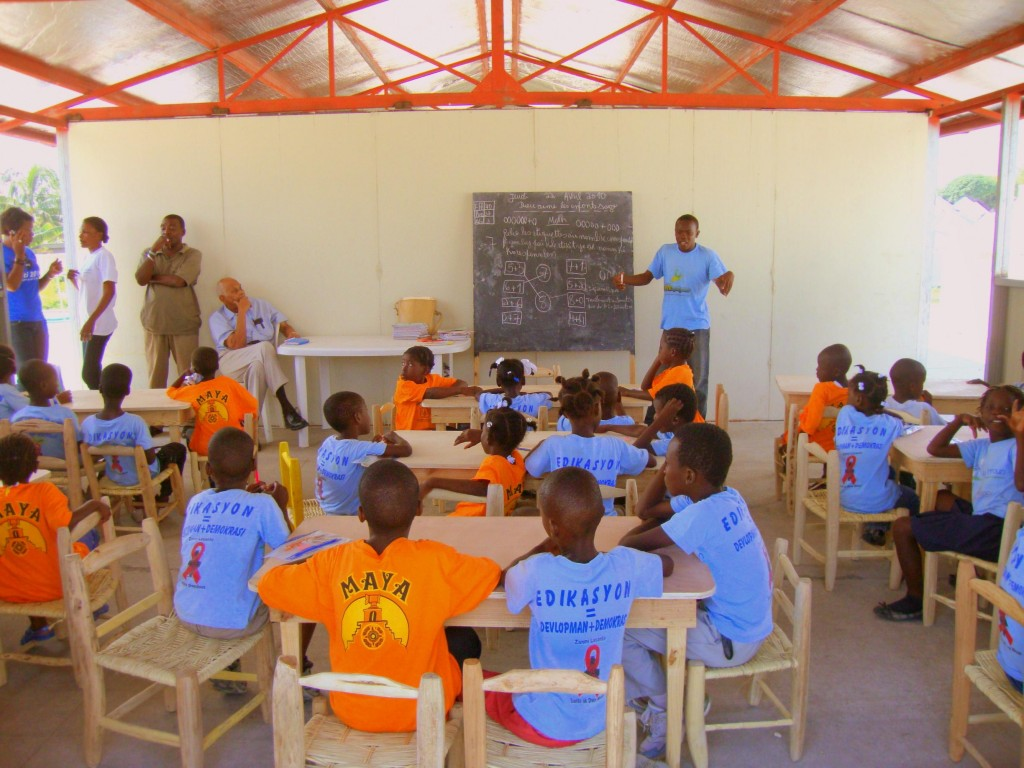 Temporary School in a Camp in Haiti