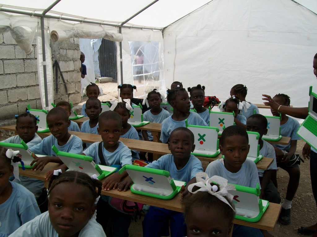 Temporary Schools Provide a Quality Education For Children Living in Camps in Haiti
