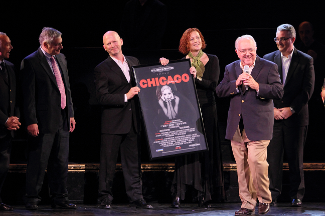 "Peter Compton at the ""Chicago: The Musical"" poster presentation"
