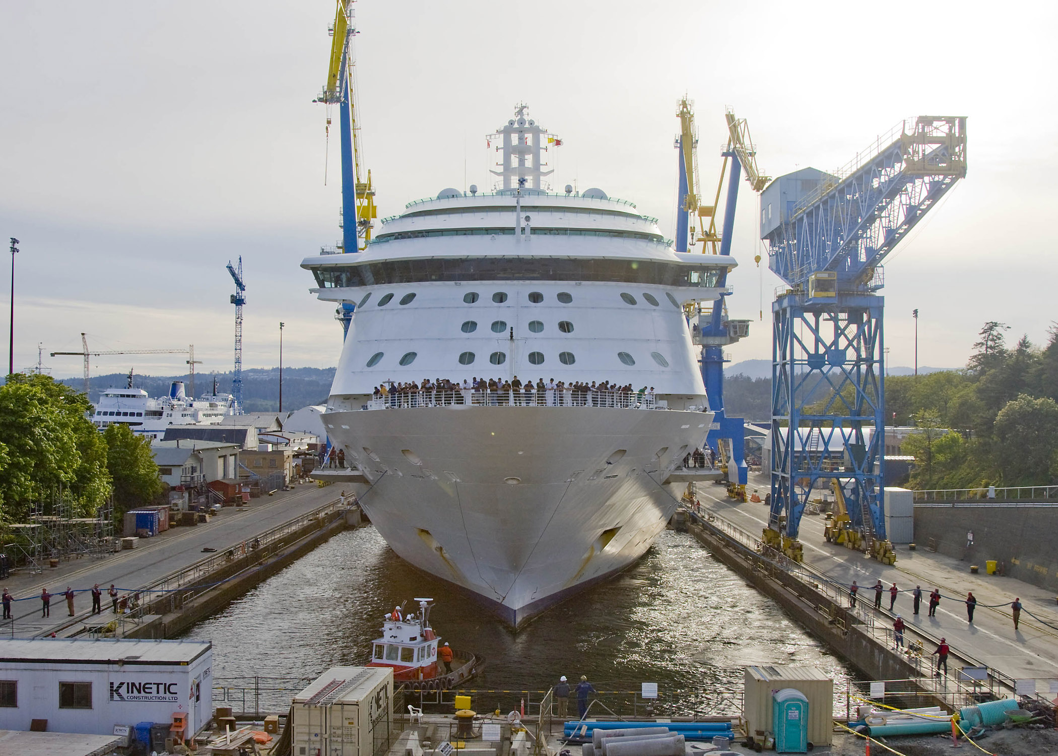 Radiance of the Seas Entering Dry-dock