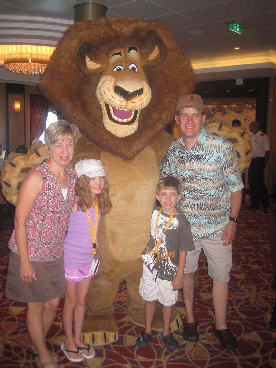 Alex the Lion with Guests