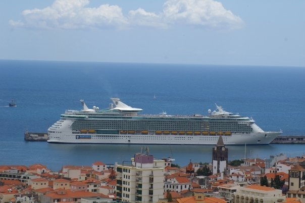 Independence of the Seas Sailing through Europe