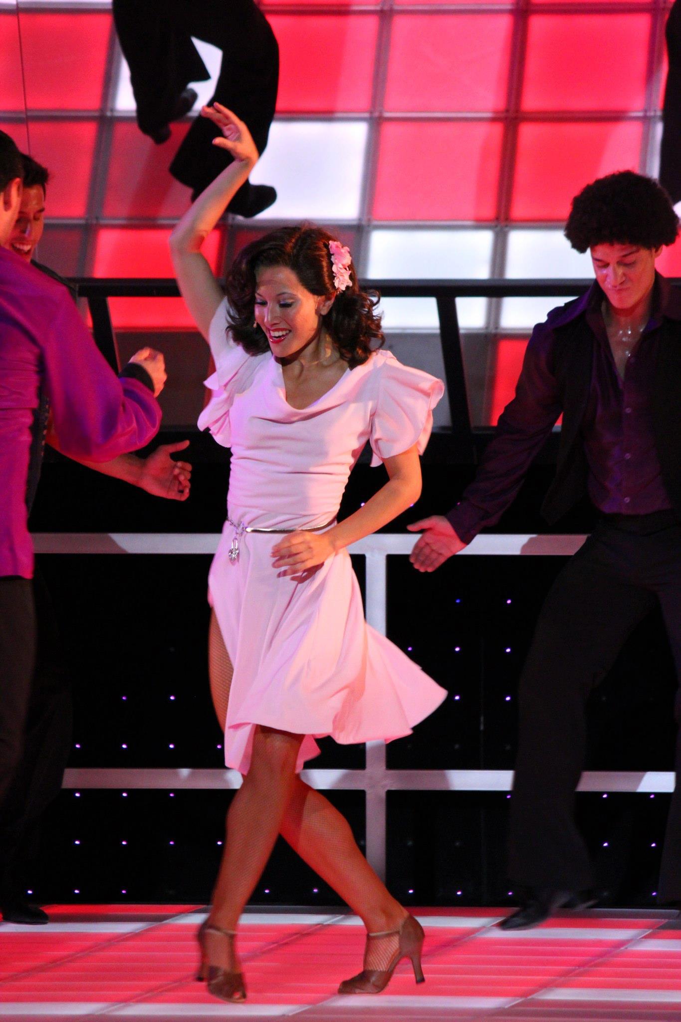 Celia Mei Rubin performing during Saturday Night Fever