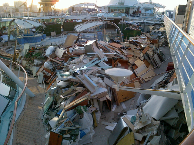 Pool Deck Debris