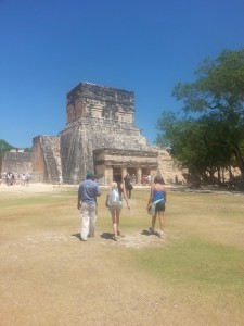 Visiting the Ruins in Mexico.